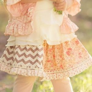 Persnickety Chevron and Floral skirt
